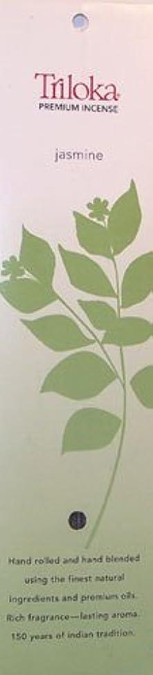 慣れるゴミ箱を空にするクライマックスTriloka – プレミアムお香ジャスミン – 10スティック( S )