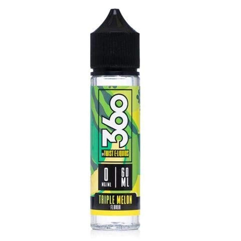 幻滅する困惑した薄める大人気 360 BY TWIST E-LIQUIDS VAPE 電子タバコ リキッド USA産 (TRIPLE MELON, 60ml)