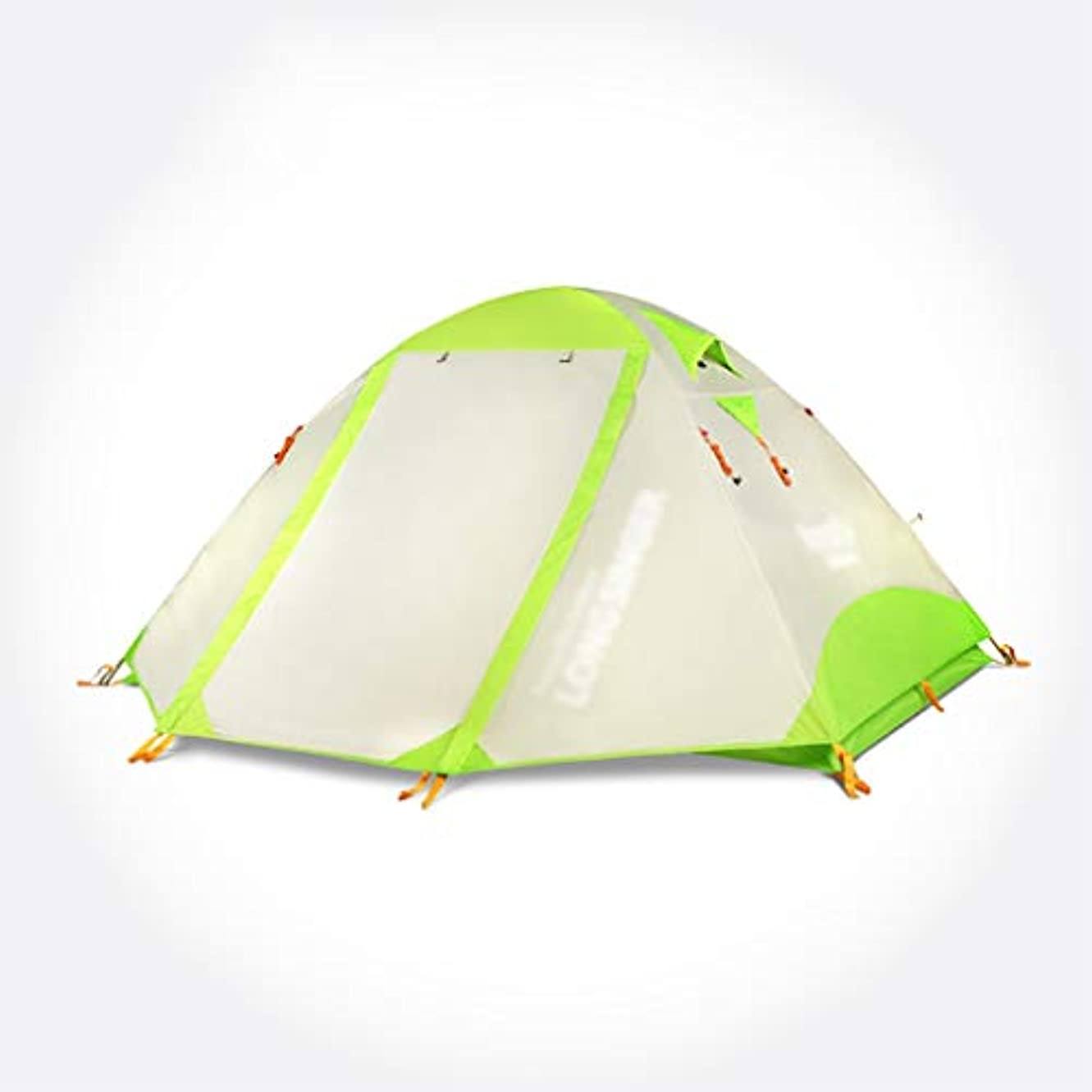 記憶パンサー変動するキャンプテント2人超軽量ダブルアルミポール防風雨屋外キャンププロの高山クライミングテント四季アカウント軽量 (Color : A)