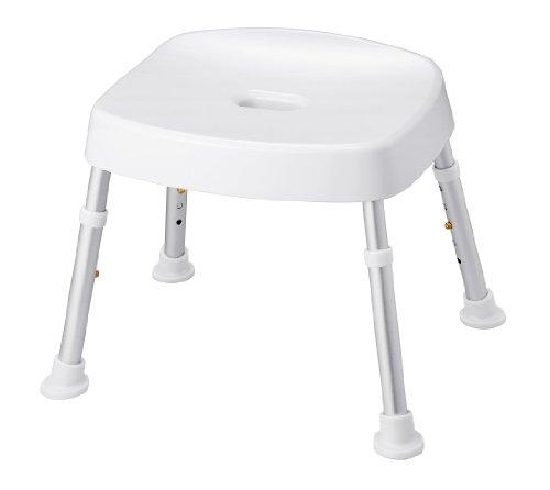 天馬 介護用 風呂椅子 ポーリッシュ バスチェア アルミパイプ ホワイト 高さ約30〜40cm 1コ入