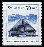 建物の切手 スウェーデン発行1種