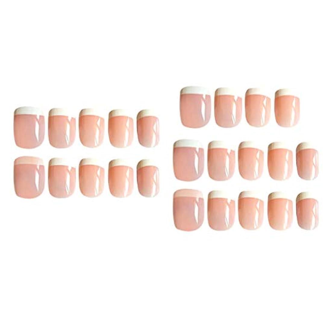 リルストライク口24X女性の女の子のABSの爪のヒントロングフルカバーの爪自然な爪
