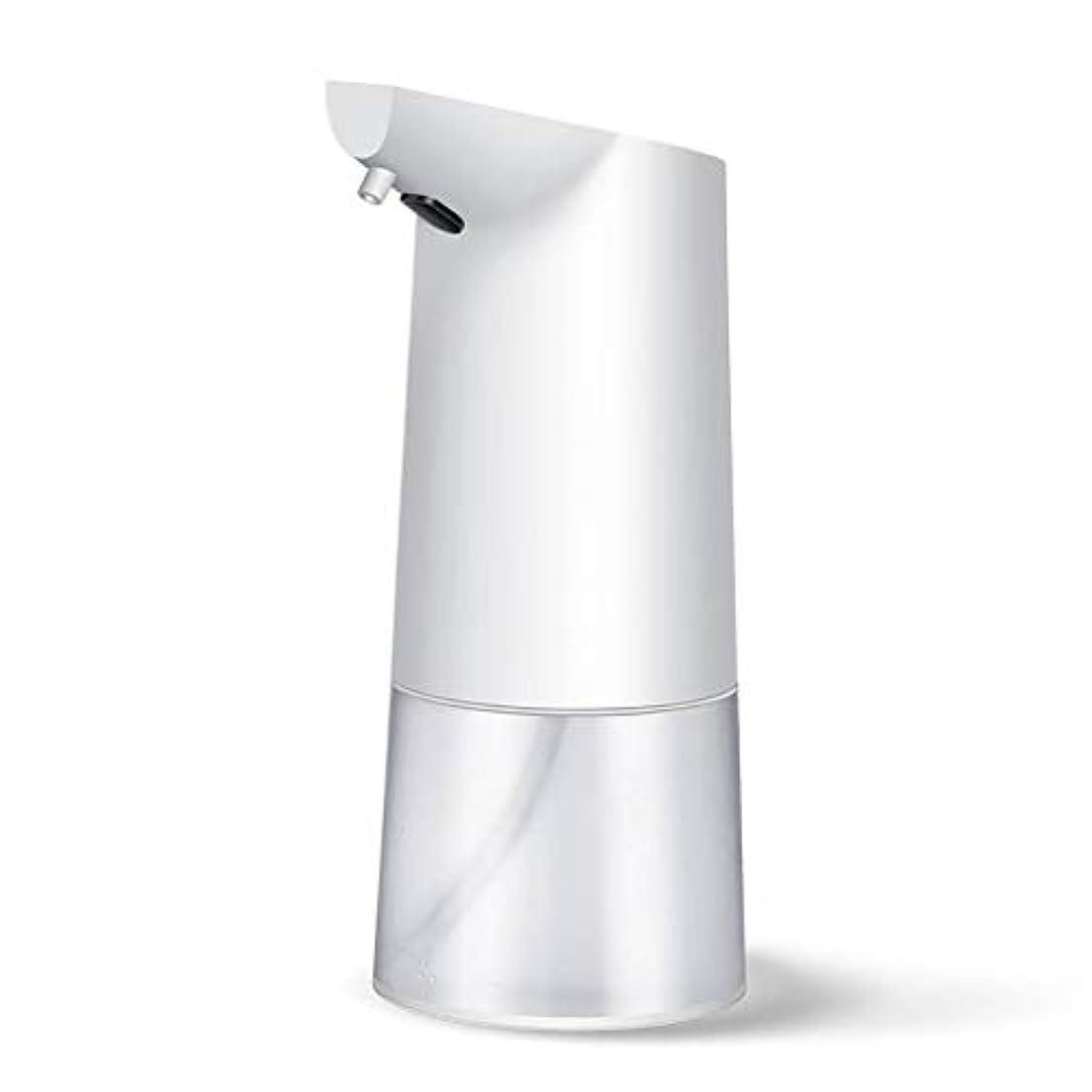 にはまって真っ逆さま肌帰納的 自動 ソープディスペンサ, ABS 大容量 350ML 速い ー 泡 ソープディスペンサ, 液体を追加できます, のために適した 洗面所 公共の機会 -白350ML-8×10×20CM