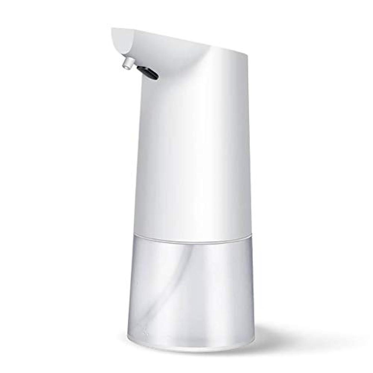 神のフレアたらい帰納的 自動 ソープディスペンサ, ABS 大容量 350ML 速い ー 泡 ソープディスペンサ, 液体を追加できます, のために適した 洗面所 公共の機会 -白350ML-8×10×20CM