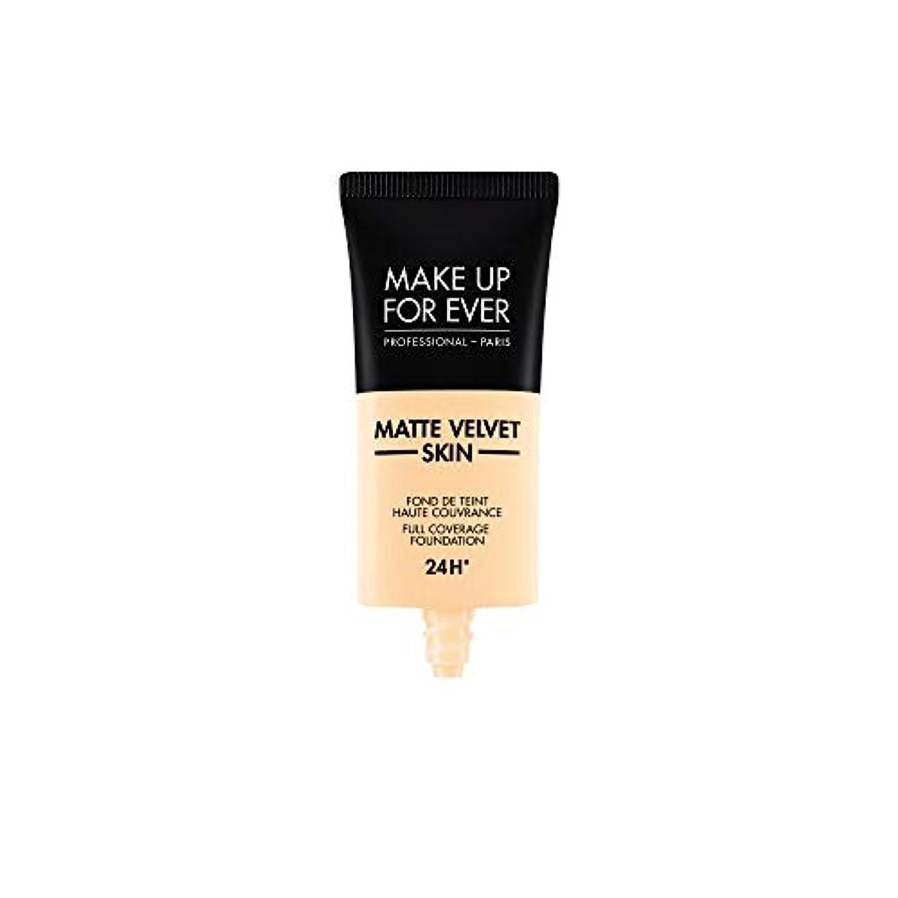 あご後方誕生メイクアップフォーエバー Matte Velvet Skin Full Coverage Foundation - # Y215 (Yellow Alabaster) 30ml/1oz並行輸入品