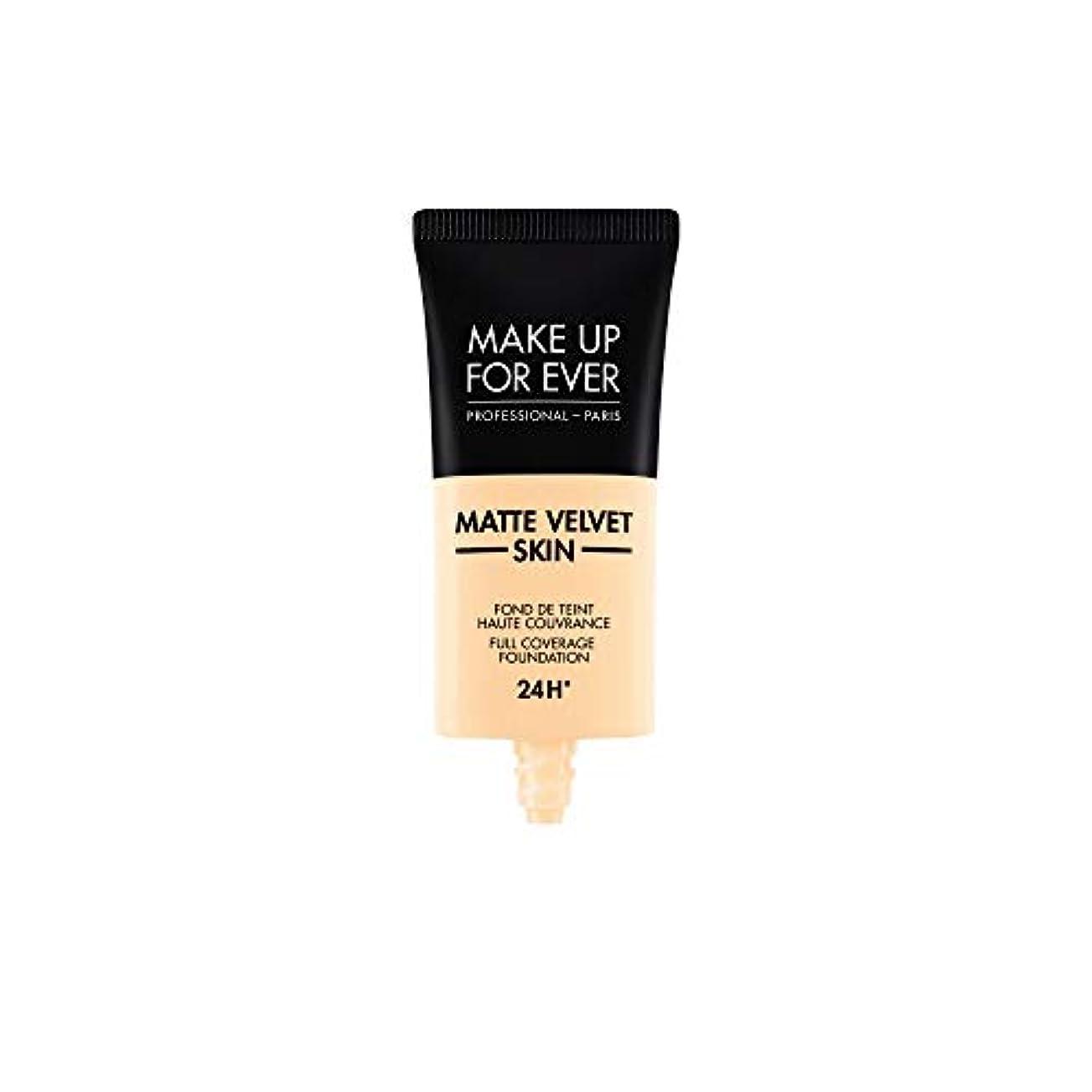 朝の体操をするブレーキ思われるメイクアップフォーエバー Matte Velvet Skin Full Coverage Foundation - # Y215 (Yellow Alabaster) 30ml/1oz並行輸入品