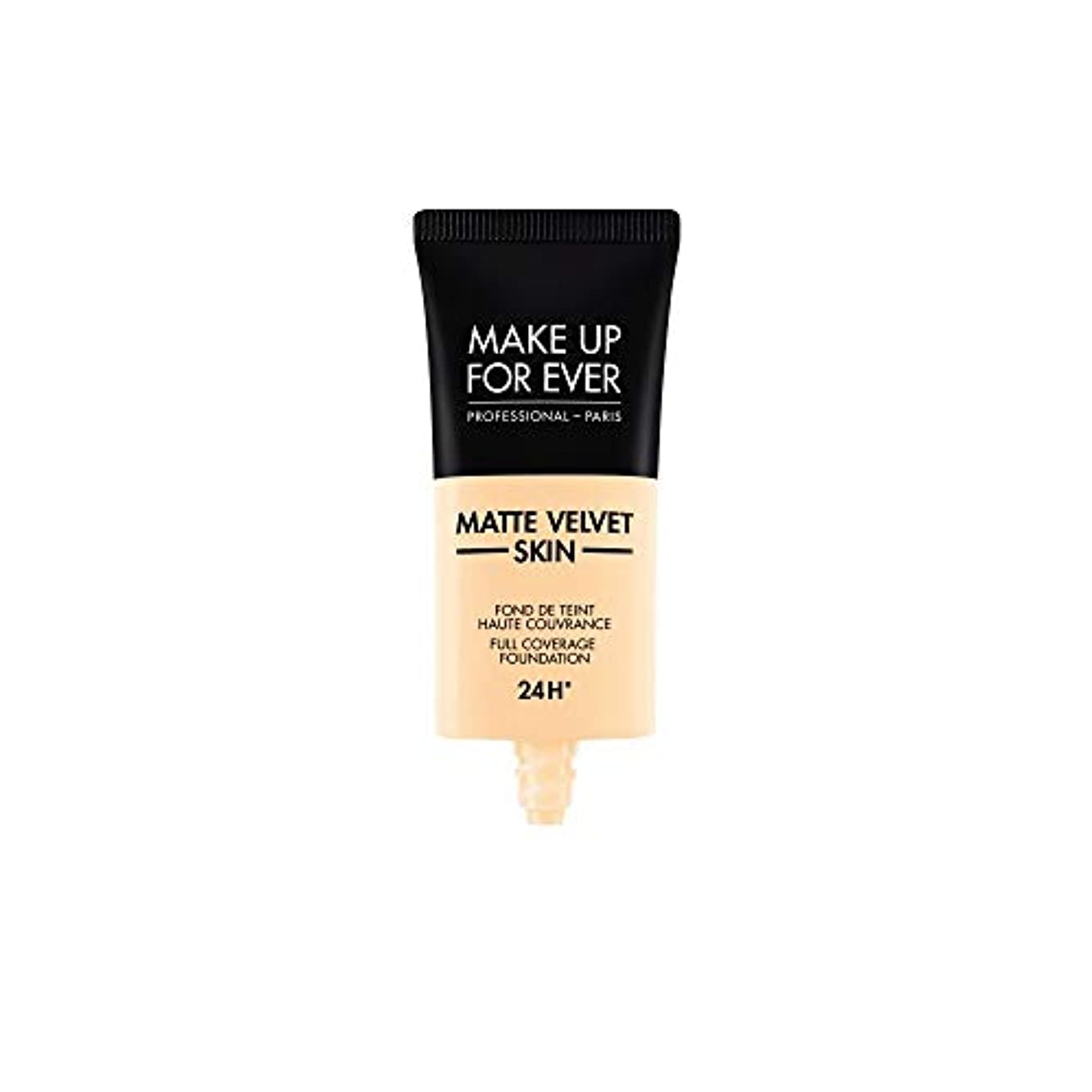 メイクアップフォーエバー Matte Velvet Skin Full Coverage Foundation - # Y215 (Yellow Alabaster) 30ml/1oz並行輸入品