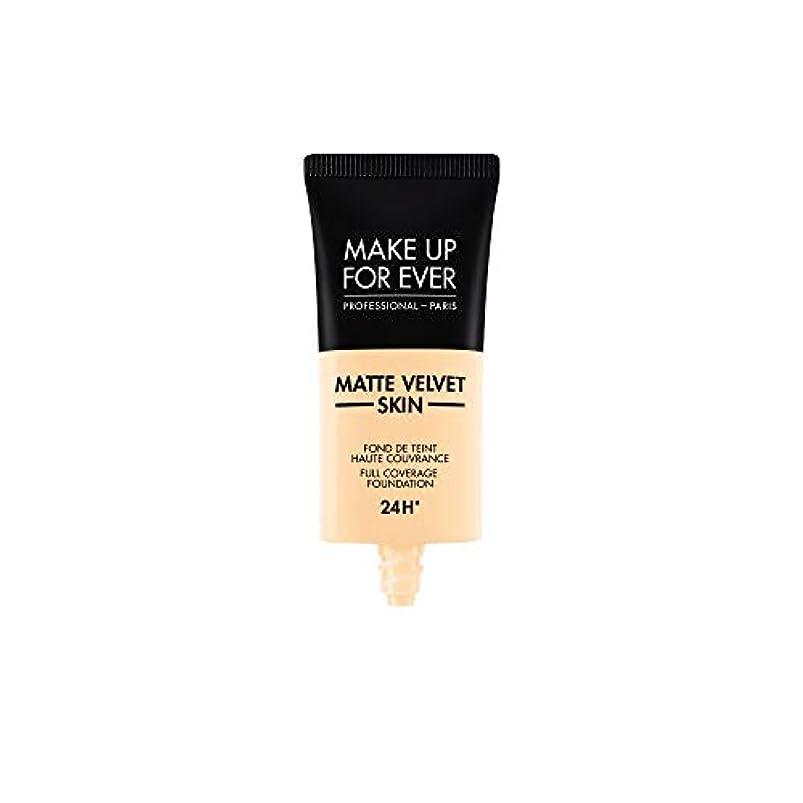追跡哀横にメイクアップフォーエバー Matte Velvet Skin Full Coverage Foundation - # Y215 (Yellow Alabaster) 30ml/1oz並行輸入品