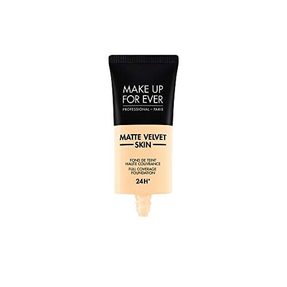 スポーツの試合を担当している人導入するまばたきメイクアップフォーエバー Matte Velvet Skin Full Coverage Foundation - # Y215 (Yellow Alabaster) 30ml/1oz並行輸入品