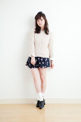 【CM使用】ケーブルニット+シャツ/SET アースミュージック&エコロジー