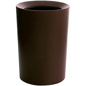 アスベル フタなしゴミ箱 ブラウン Φ22.2×31.8 ルクレール2重構造くず入CV丸形