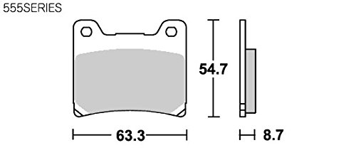 SBS ブレーキパッド 555LS シンターメタル RZ250R XJ400Z/ZS/ZE XVS1100ドラッグスター FJ1100 FJ1200 XJR1200 XJR1300 777-0555030