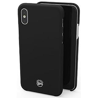 AndMesh iPhone X ケース Basic Case [Qi ワイヤレス 充電 対応 マット仕上げ] | 黒 ブラック AMBSX001-BLK