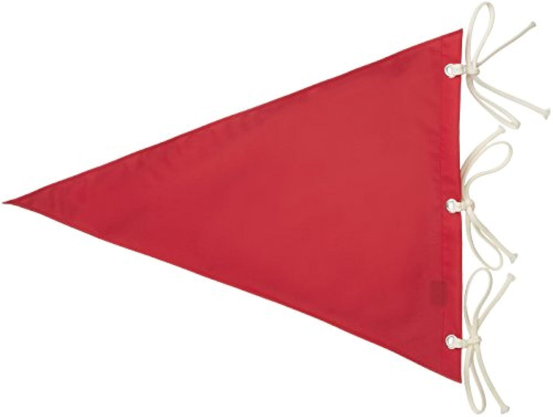 ライト(LITE) ゴルフ場用品 ナイロン 無地 三角旗 赤  M121 赤