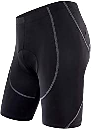 Sportneer Men's Cycling Shorts 4D Coolmax Padded Bike Bicycle Pants Tights, Breathable & A
