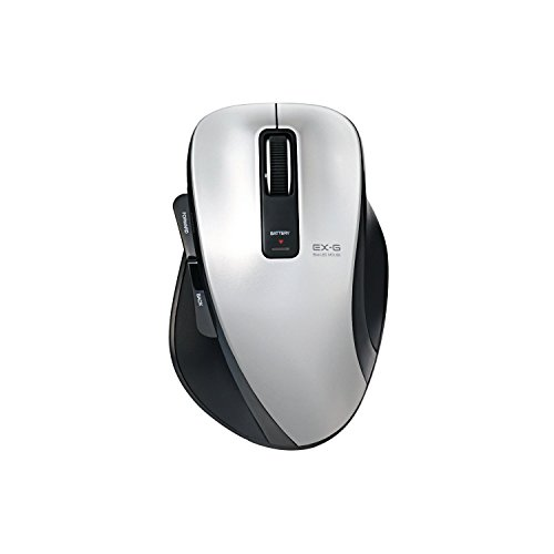 エレコム ワイヤレスマウス Bluetooth BlueLED  5ボタン Mサイズ シルバー M-XG1BBSV