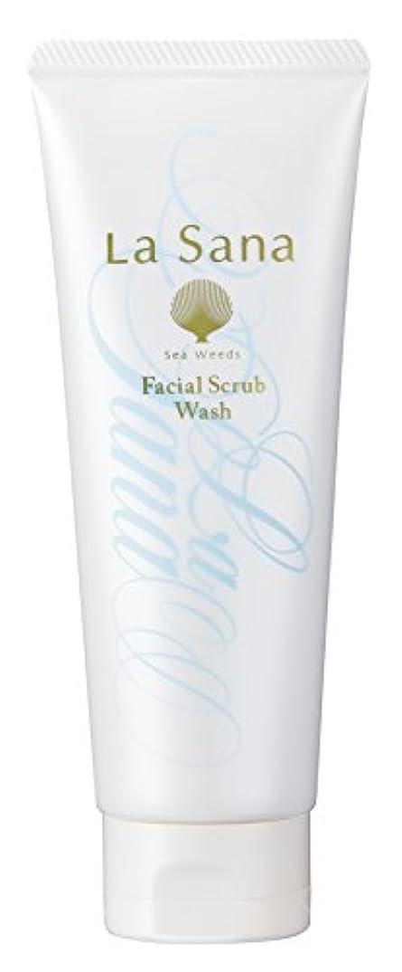 謝る従う敬礼ラサーナ La sana 海藻 海泥 スクラブ 洗顔料 115g (グリーンフローラルの香り) 保湿成分配合