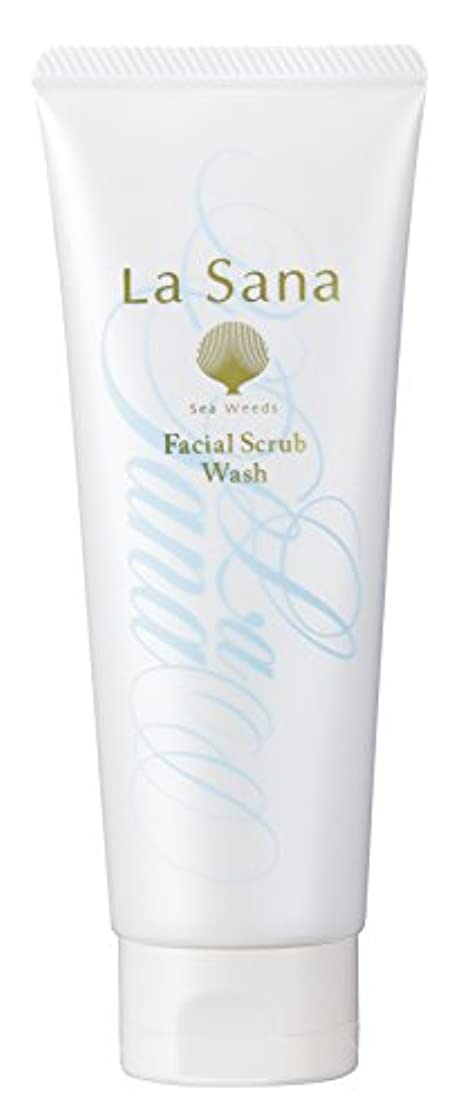 意気揚々クックラジエーターラサーナ La sana 海藻 海泥 スクラブ 洗顔料 115g (グリーンフローラルの香り) 保湿成分配合