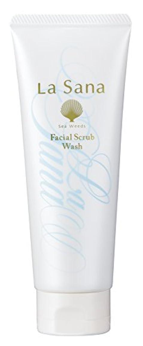 と組む不機嫌無しラサーナ La sana 海藻 海泥 スクラブ 洗顔料 115g (グリーンフローラルの香り) 保湿成分配合