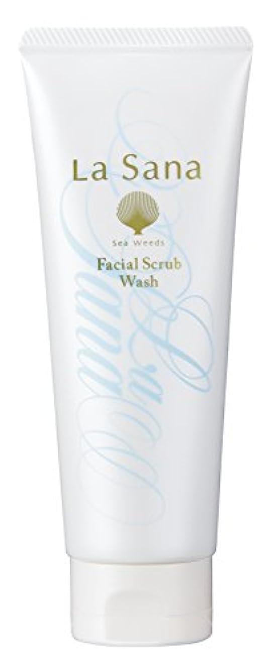 蒸気未払い戻すラサーナ La sana 海藻 海泥 スクラブ 洗顔料 115g (グリーンフローラルの香り) 保湿成分配合