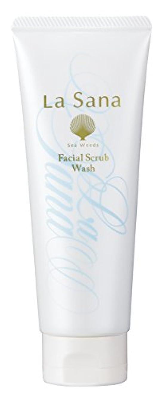 強調未亡人倫理ラサーナ La sana 海藻 海泥 スクラブ 洗顔料 115g (グリーンフローラルの香り) 保湿成分配合