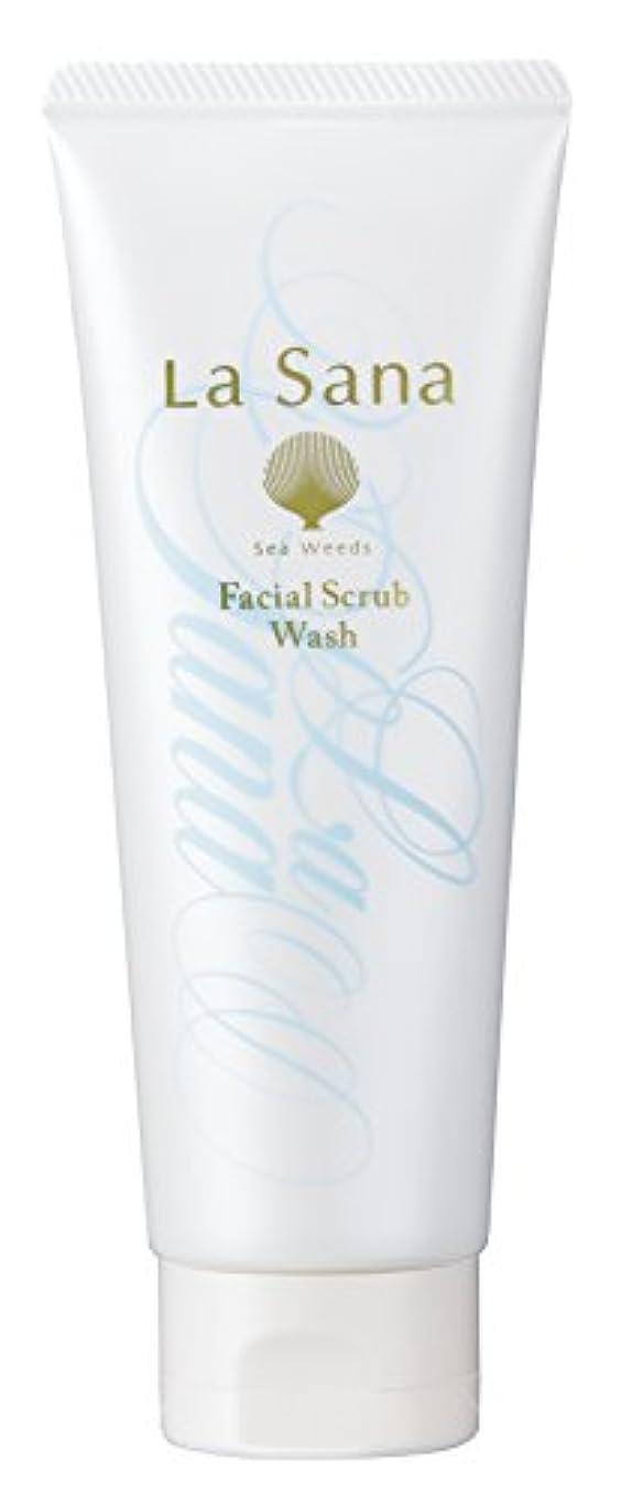 ユーモラスパーク是正するラサーナ La sana 海藻 海泥 スクラブ 洗顔料 115g (グリーンフローラルの香り) 保湿成分配合