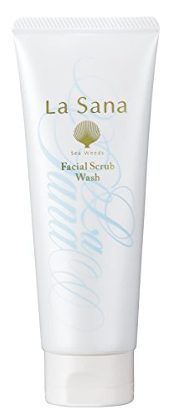 優しい干し草教育ラサーナ La sana 海藻 海泥 スクラブ 洗顔料 115g (グリーンフローラルの香り) 保湿成分配合