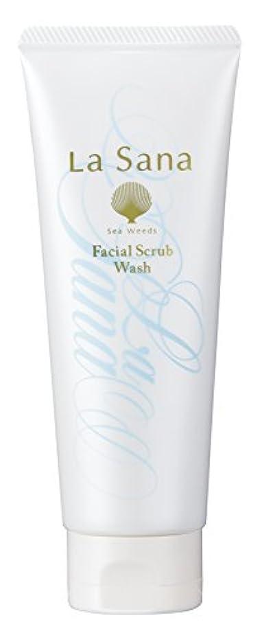 慢な加速する世紀ラサーナ La sana 海藻 海泥 スクラブ 洗顔料 115g (グリーンフローラルの香り) 保湿成分配合