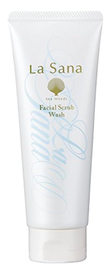はしご万歳ラサーナ La sana 海藻 海泥 スクラブ 洗顔料 115g (グリーンフローラルの香り) 保湿成分配合