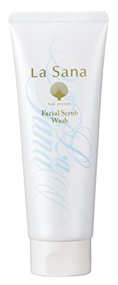 強盗国歌胆嚢ラサーナ La sana 海藻 海泥 スクラブ 洗顔料 115g (グリーンフローラルの香り) 保湿成分配合