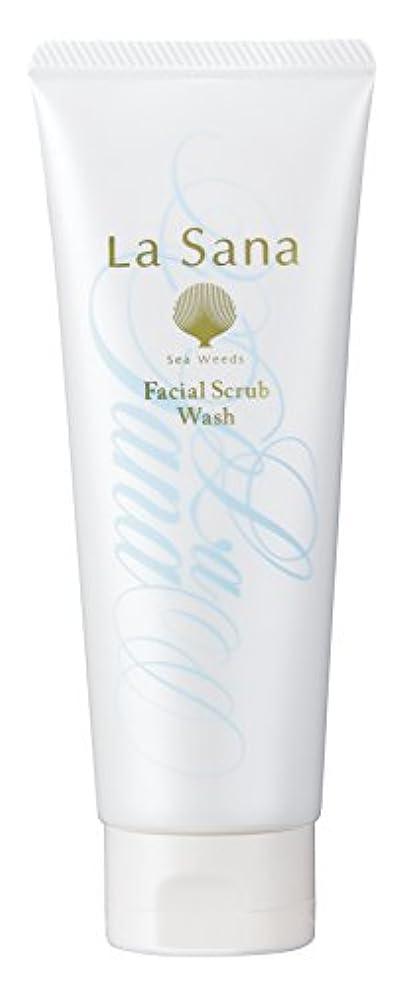 彼らのものどう?鹿ラサーナ La sana 海藻 海泥 スクラブ 洗顔料 115g (グリーンフローラルの香り) 保湿成分配合