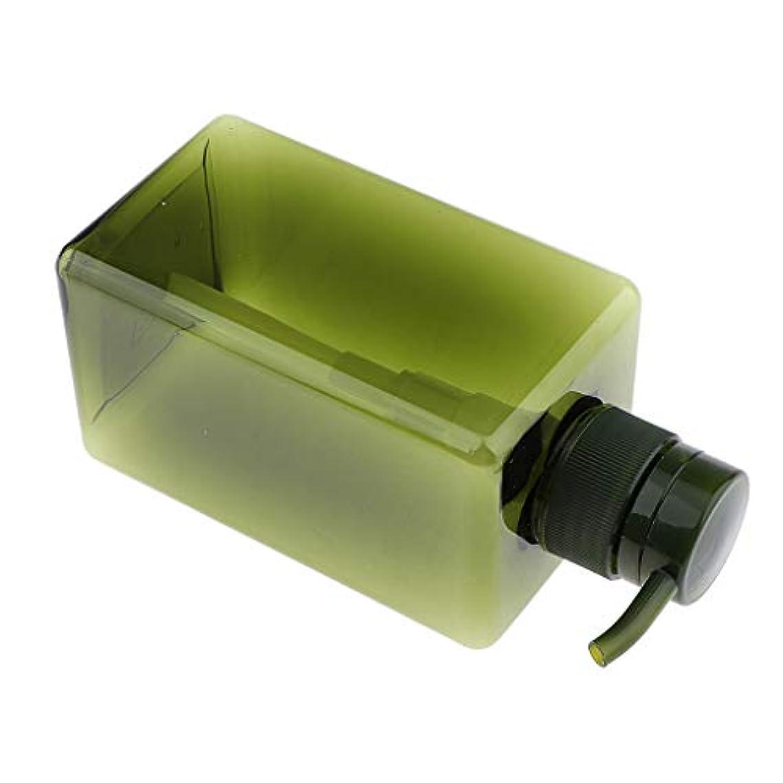 どこでもリーン香ばしいF Fityle シャンプーボトル 空ボトル ポンプボトル 詰め替え容器 450ml 4色選べ - 濃い緑色