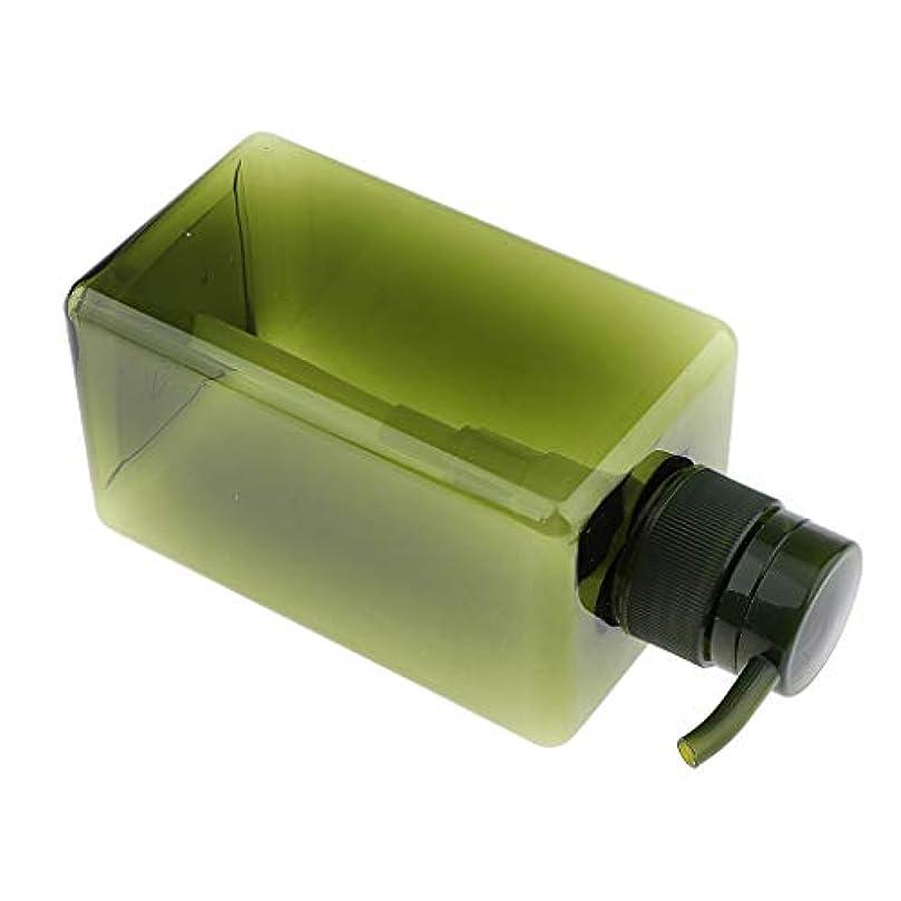 交換以前は誘導F Fityle シャンプーボトル 空ボトル ポンプボトル 詰め替え容器 450ml 4色選べ - 濃い緑色