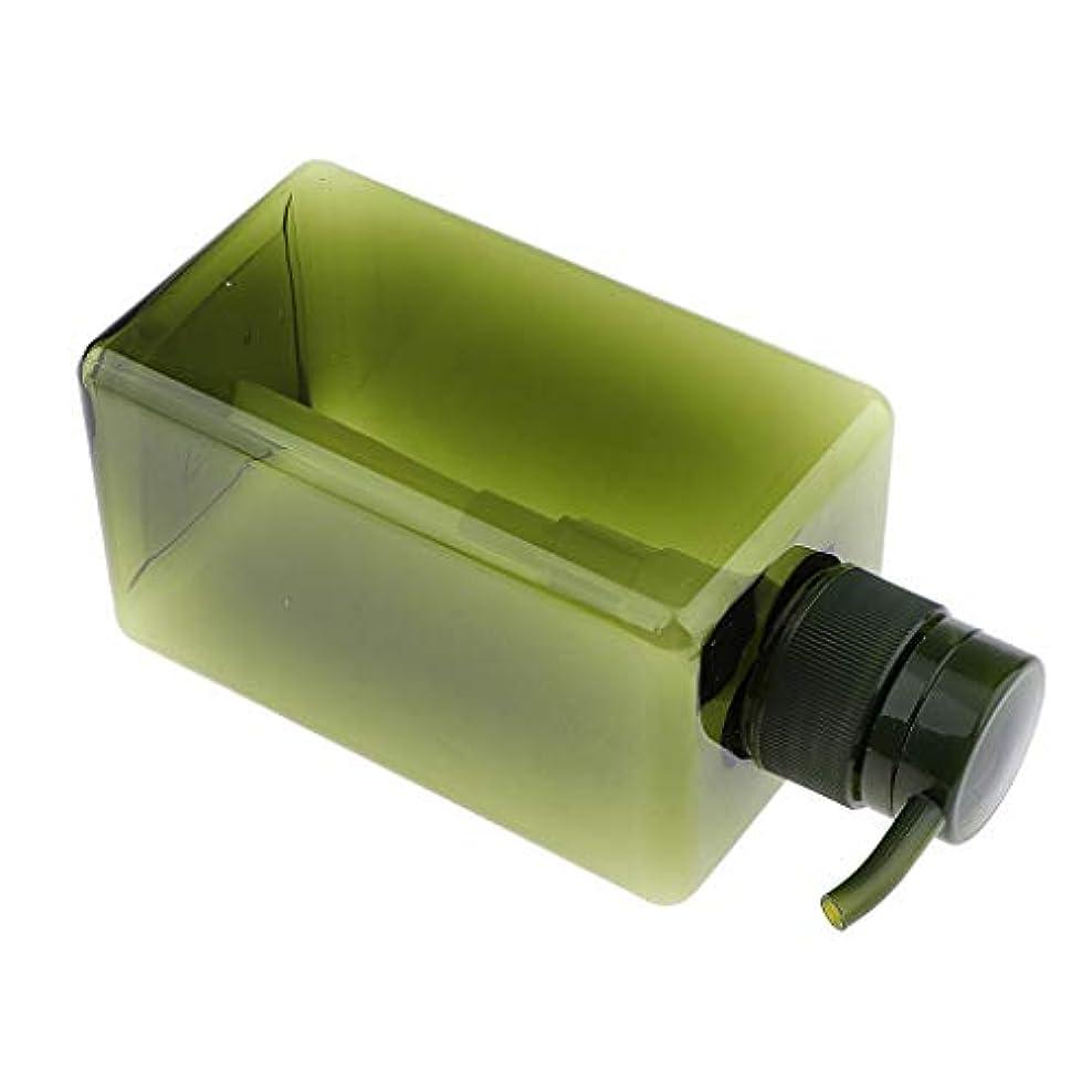 導出パレード失うF Fityle シャンプーボトル 空ボトル ポンプボトル 詰め替え容器 450ml 4色選べ - 濃い緑色