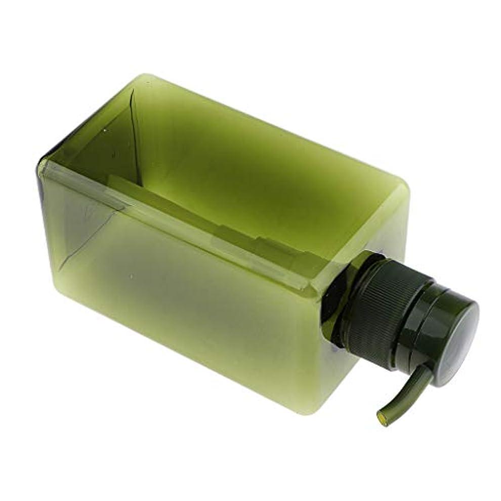 見出しに付けるものF Fityle シャンプーボトル 空ボトル ポンプボトル 詰め替え容器 450ml 4色選べ - 濃い緑色