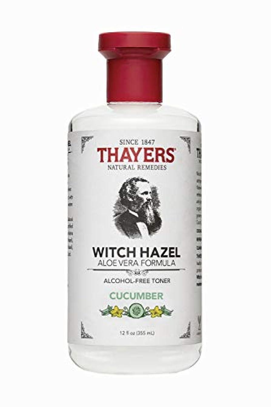 塗抹ジャーナリストドアThayers? Cucumber Witch Hazel Astringent with Organic Aloe Vera 355ml