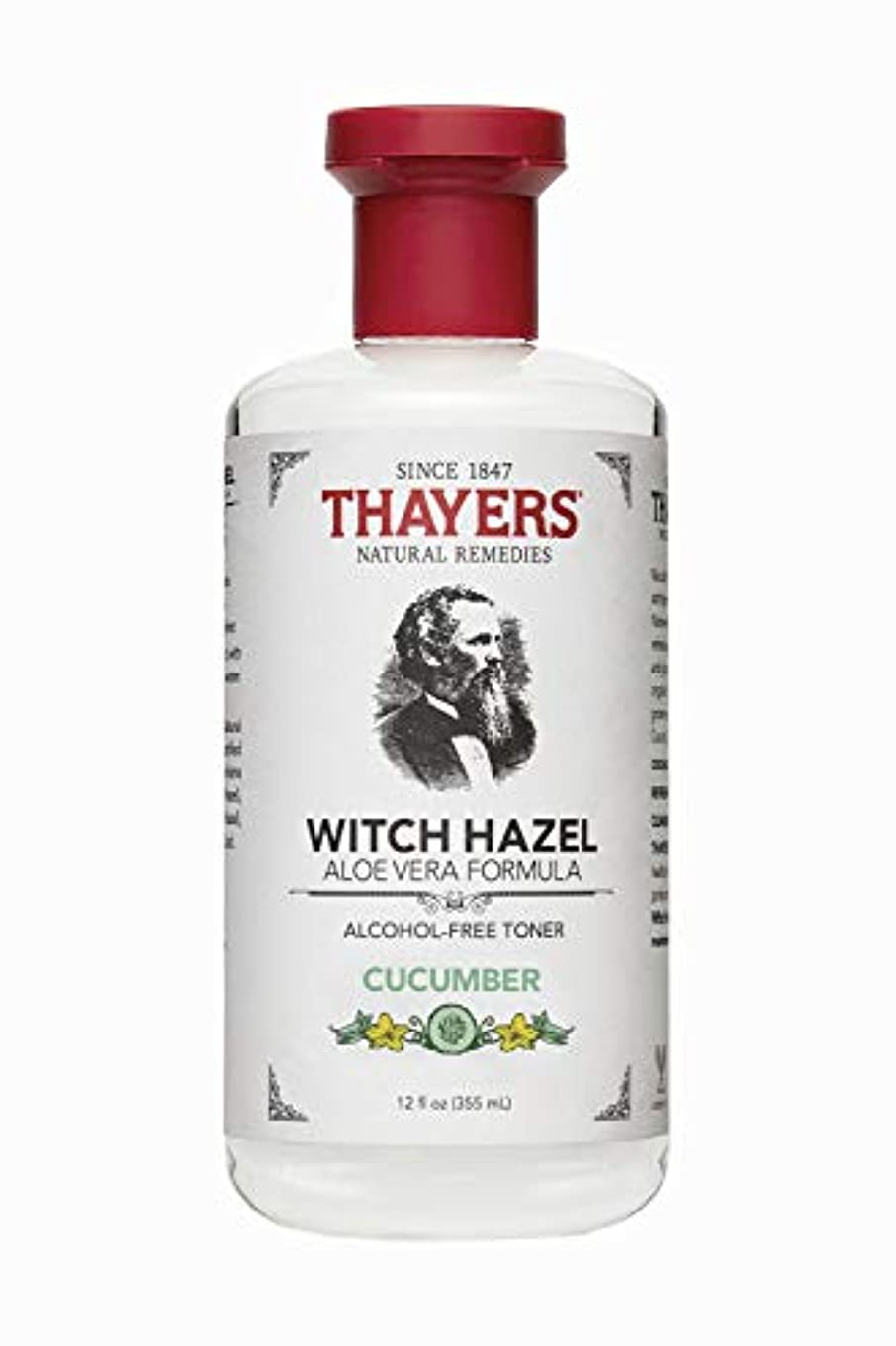 ジャニスバッフル反射Thayers? Cucumber Witch Hazel Astringent with Organic Aloe Vera 355ml