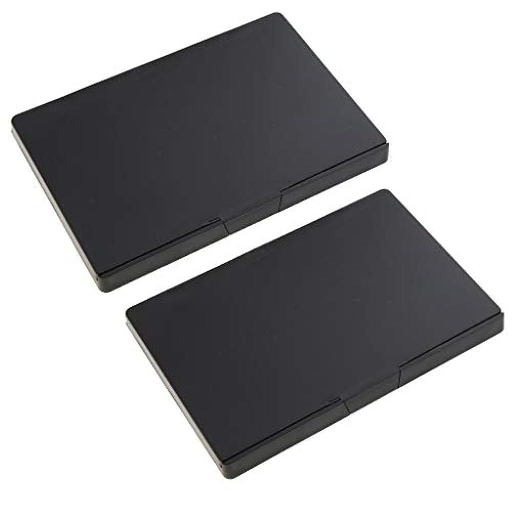 インクスペインゲーム2個 磁気パレットボックス 空パレット アイシャドー パウダー メイクアップケース