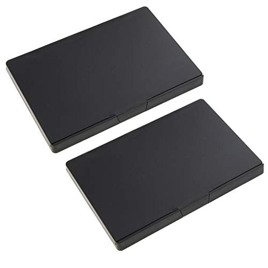 便利広範囲にシード2個 磁気パレットボックス 空パレット アイシャドー パウダー メイクアップケース