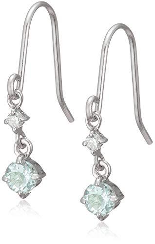 4℃(ヨンドシー) アクアマリン×ダイヤモンド K10ホワイトゴールド(WG) フックピアス 110816153202