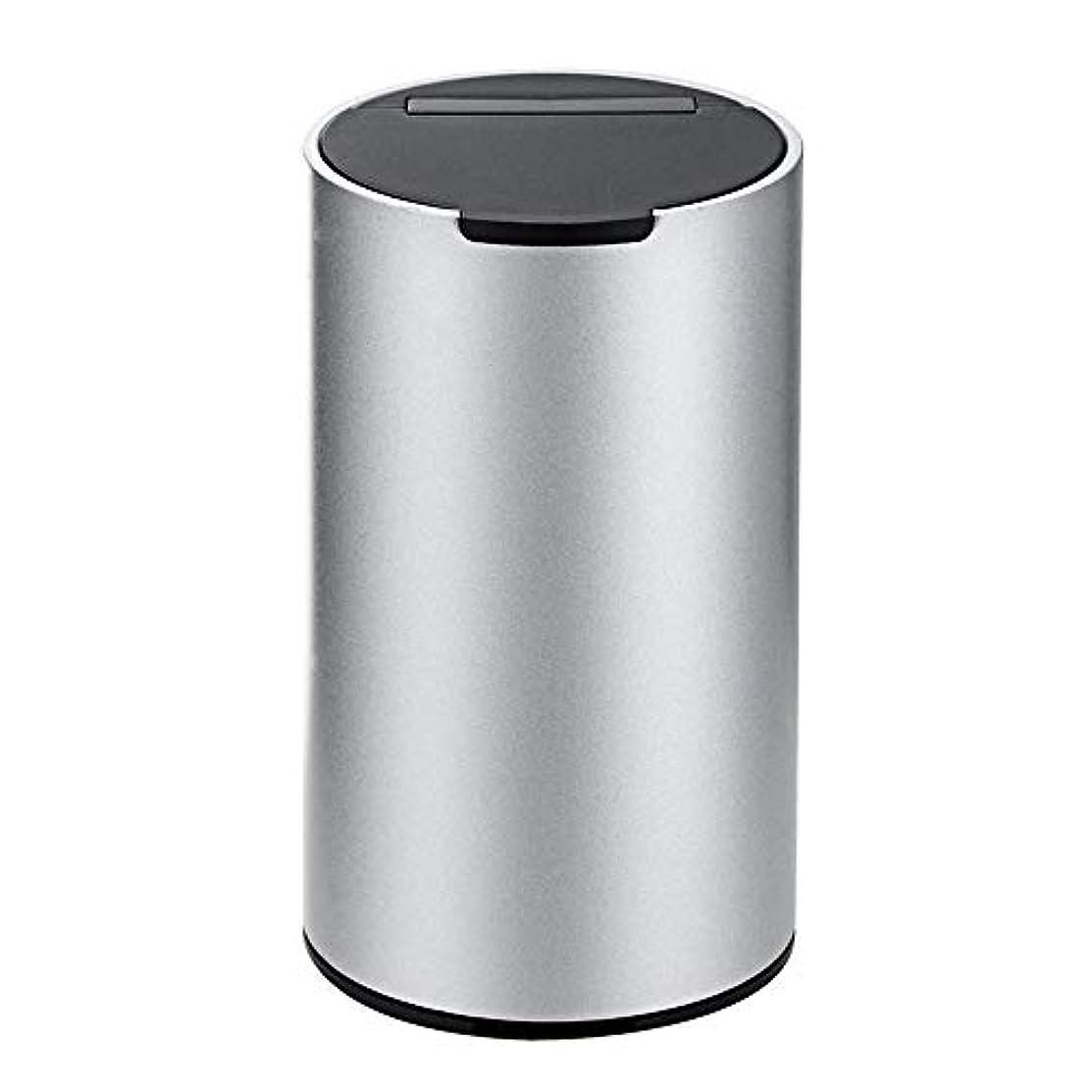 香水通貨十二車の灰皿、ふたが付いている容易な取り外し可能なステンレス製の車の灰皿 (色 : 銀)