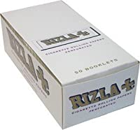 RizlaホワイトRolling Paper Fullボックスof 50Booklets by Rizla