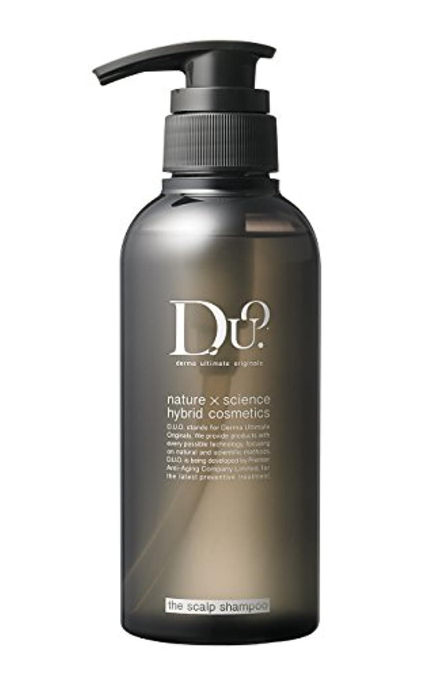 抑制する農場物理学者D.U.O. ザ スカルプシャンプー 320ml【頭皮毛穴ケア】オールインワン ノンシリコン ダメージケア ダマスクローズの香り