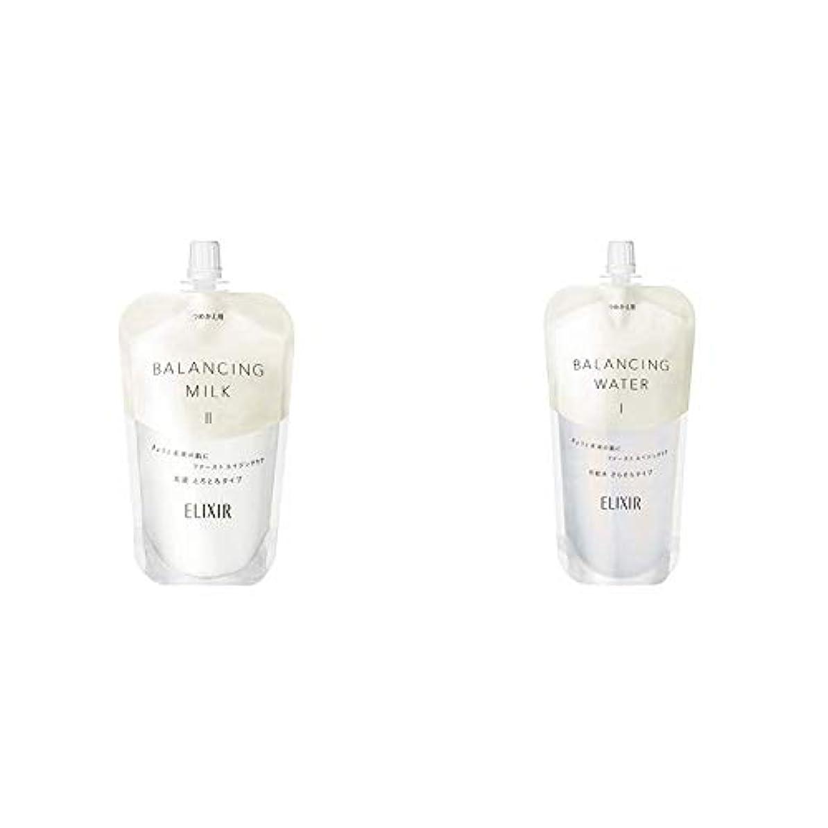 胆嚢礼儀矢エリクシール ルフレ バランシング ミルク 乳液 2 (とろとろタイプ) (つめかえ用) 110mL & ルフレ バランシング ウォーター 化粧水 1 (さらさらタイプ) (つめかえ用) 150mL