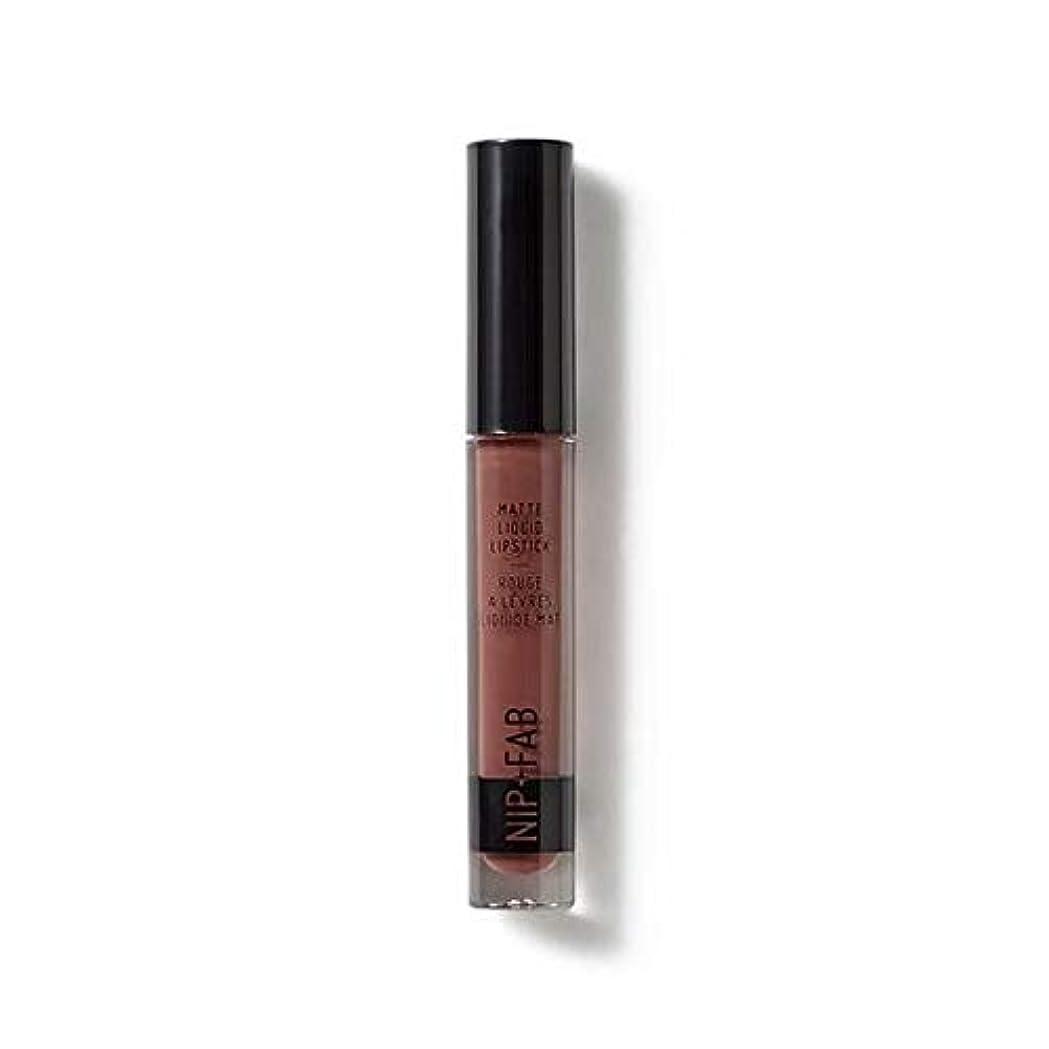 講堂歴史クランプ[Nip & Fab ] マット液状口紅2.6ミリリットルブラウニー50を構成するFab +ニップ - NIP+FAB Make Up Matte Liquid Lipstick 2.6ml Brownie 50 [並行輸入品]
