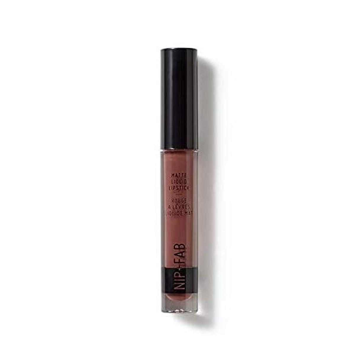 新しい意味ブローホール大使館[Nip & Fab ] マット液状口紅2.6ミリリットルブラウニー50を構成するFab +ニップ - NIP+FAB Make Up Matte Liquid Lipstick 2.6ml Brownie 50 [並行輸入品]