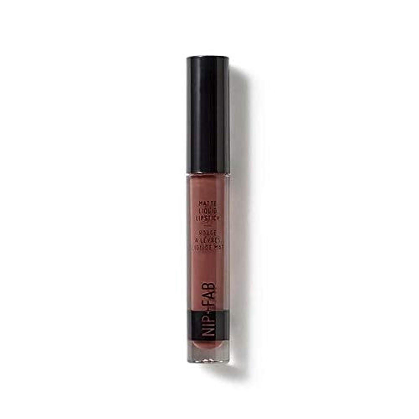 真面目な哀乱気流[Nip & Fab ] マット液状口紅2.6ミリリットルブラウニー50を構成するFab +ニップ - NIP+FAB Make Up Matte Liquid Lipstick 2.6ml Brownie 50 [並行輸入品]