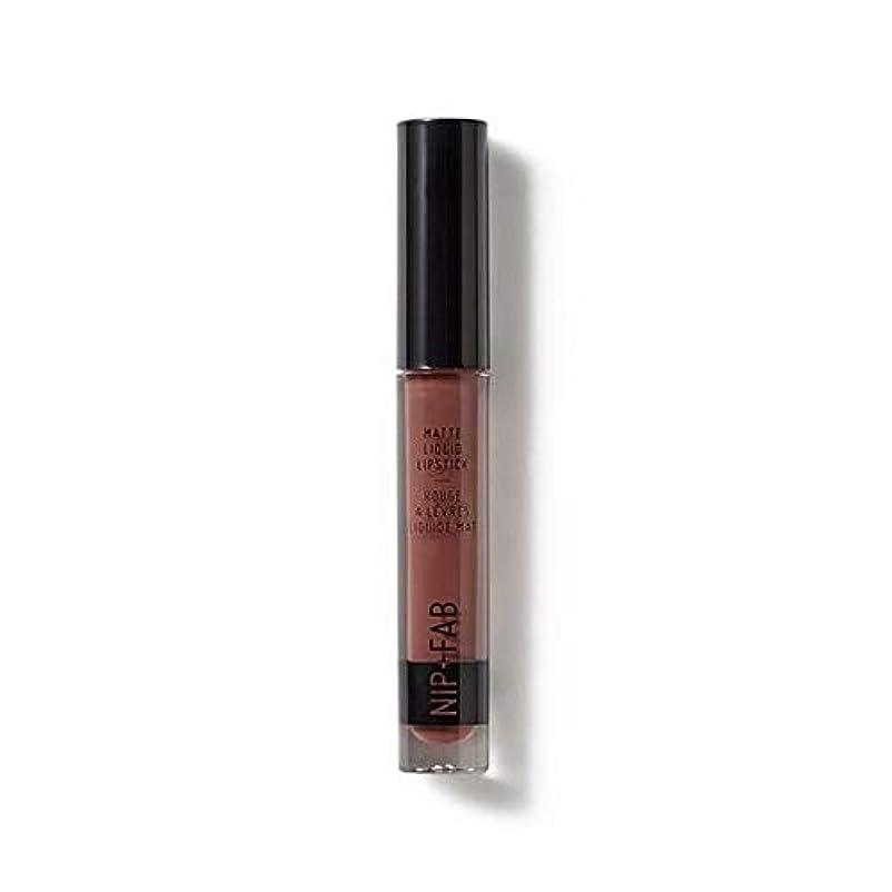 不変洗練されたサポート[Nip & Fab ] マット液状口紅2.6ミリリットルブラウニー50を構成するFab +ニップ - NIP+FAB Make Up Matte Liquid Lipstick 2.6ml Brownie 50 [並行輸入品]