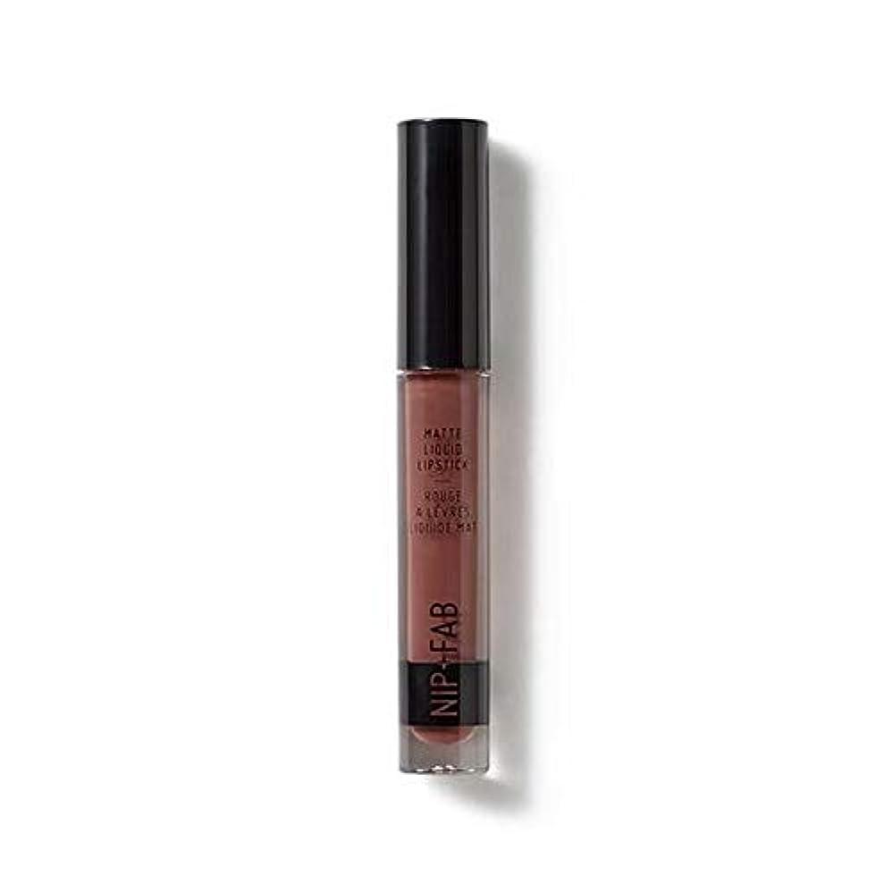 カバレッジ値下げ息を切らして[Nip & Fab ] マット液状口紅2.6ミリリットルブラウニー50を構成するFab +ニップ - NIP+FAB Make Up Matte Liquid Lipstick 2.6ml Brownie 50 [並行輸入品]