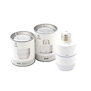 stak(スタック) | モジュールで簡単に取り付けできるスマートLED電球・赤外線リモコン | E26型 | WiFi/Bluetooth搭載 | (本体+照明)